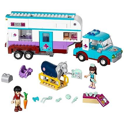 Amazoncom Lego 41125 Horse Vet Trailer Building Kit 370 Piece