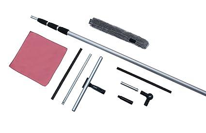 FenWi - Juego de regletas limpiacristales de Aluminio, telescópico ...