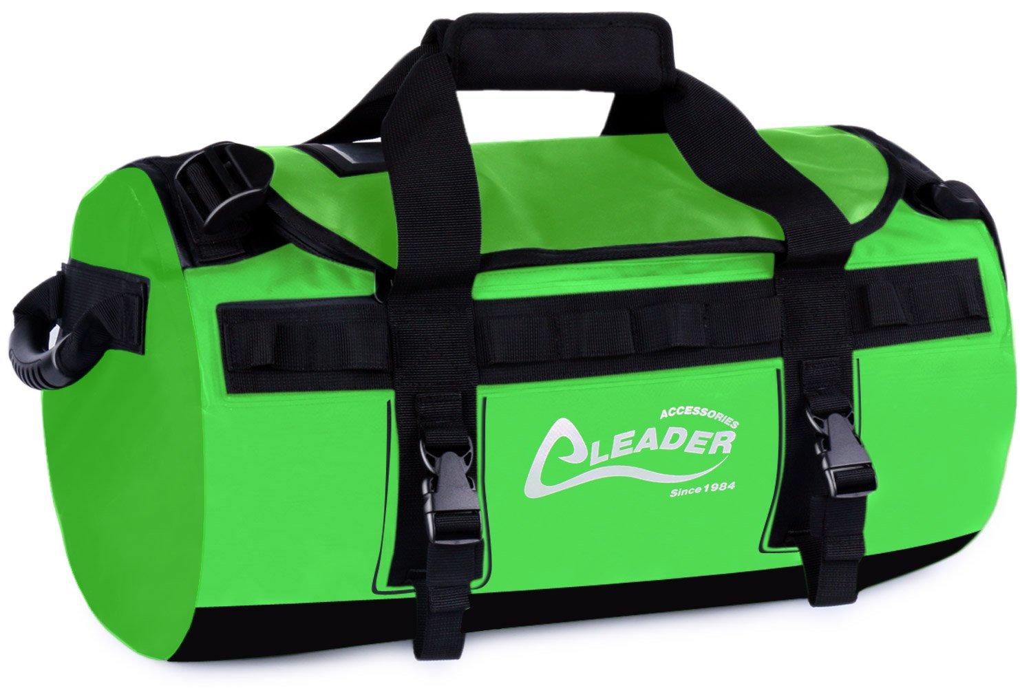 Leader Accessories デラックス 防水PVC 防水シート製 ダッフルバッグバックパック 40リットル 70リットル 90リットル B074T9LR4Z 40L|グリーン グリーン 40L