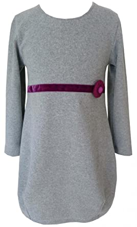 8517ccf02dc04 Trocadero - Mode für Kinder - Robe - Uni - Manches Longues - Fille gris gris