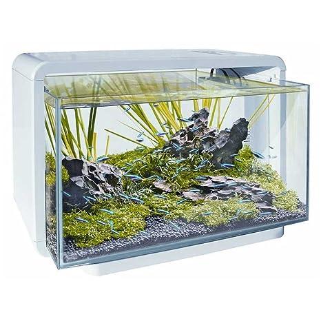Superfish Home 25 L Acuario (Blanco) – incluyendo luces LED y filtro de agua