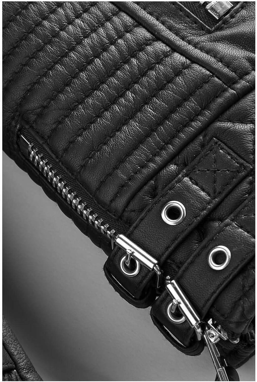 brandMe Mens Genuine Leather Pure Lambskin Biker Jacket MM202