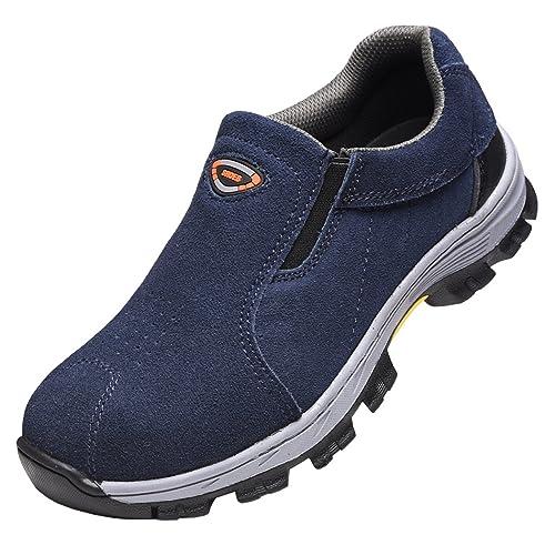 SPEEDEVE Botas de Seguridad para Hombre Mujer,Zapatos de Seguridad con Puntera de Acero para