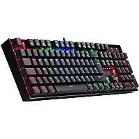 Redragon K551-RGB-MITRa Mechanical Gaming Keyboard RGB Backlit Gaming Keyboard 104 Key Computer Full Without Conflict 12 Multimedia Keys Winglock PC Gaming Keyboard