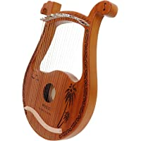 Lyre Harp, 19 Metal Strings Cute Deer Head Shape Lyre with Tuning Hammer Playing Warm Sound, Mahogany Portable Musical…