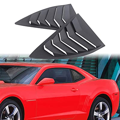 Dixuan Auto Parts Rear Side Window Louvers for 2010-2015 Chevy Camaro LS LT RS SS GTS, ABS Window Scoop Cover Vent Lambo GT Style: Automotive