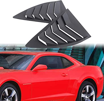 Dixuan Auto Parts Rear Window Louvers Windshield Sun Shade Cover Lambo Style Matte Black for Chevrolet Chevy Camaro 2016-2020