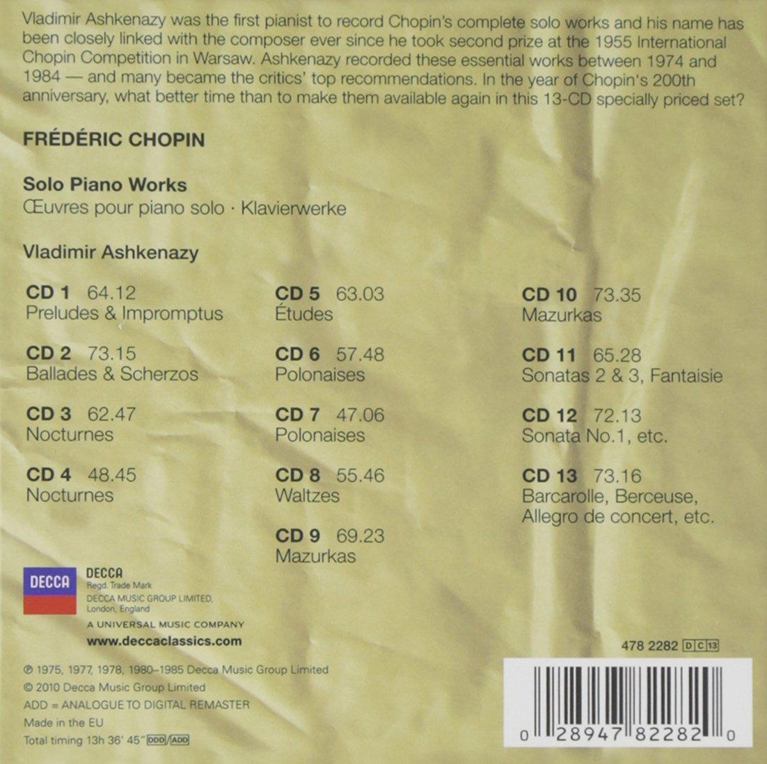 Chopin: Solo Piano Works by Decca