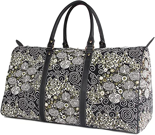 Signare Tapestry Large Duffle Bag Overnight Bags Weekend Bag for Women with Gustav Klimt Design BHOLD-KISS