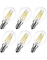 LVWIT Lampadina Filamento LED E14-4W Equivalenti a 40W, 470Lm, Luce Bianca Calda 2700K, Non dimmerabile - Pacco da 6