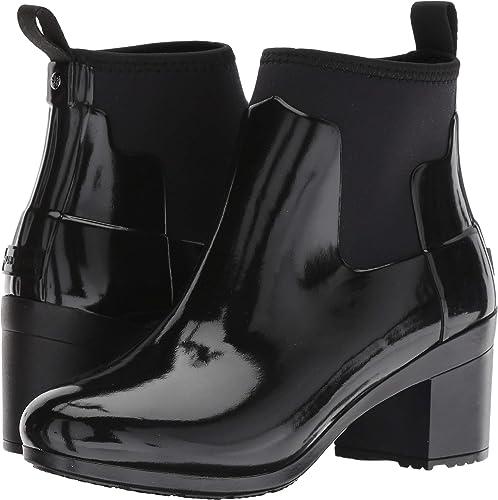 b14df3f8ed5 Hunter Womens Refined Mid Heel Gloss Rain Boots
