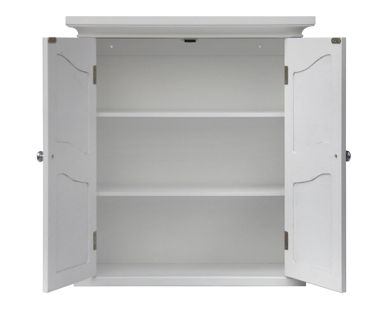 Amazon Elegant Home Fashion Vera 2 Door Wall Cabinet White