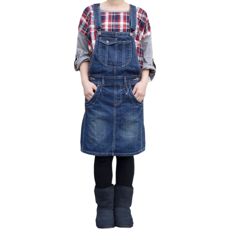 大きいサイズ レディース Blue Clothing デニム ジャンスカ サロペットスカート B00TGTJ6JM L|■Uネイビー■ ■Uネイビー■ L