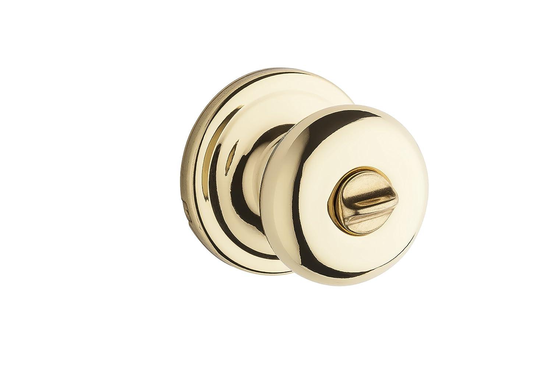 Kwikset 730J 3 CP Juno Bed/Bath Knob, Polished Brass