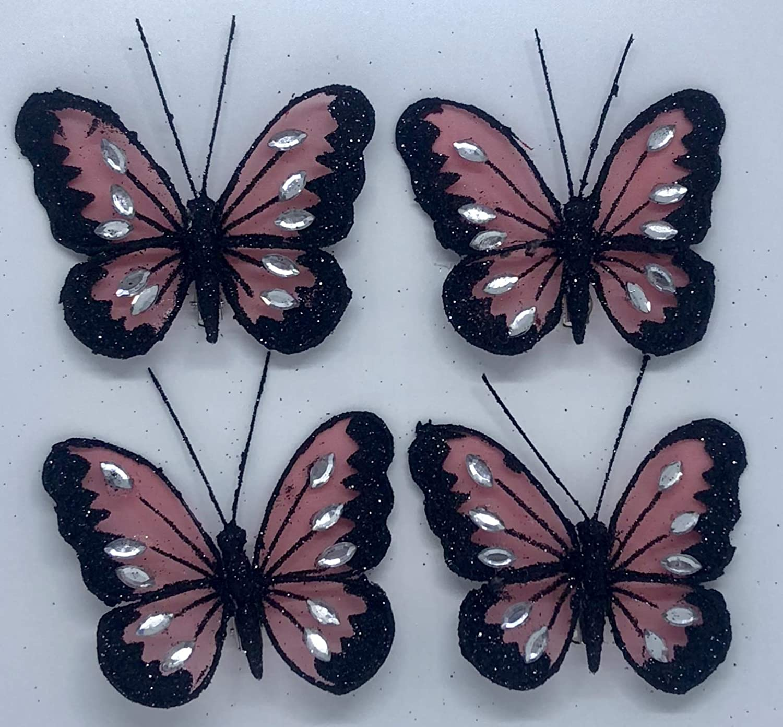 d16b0588077660 à clipser Papillon Strass Paillettes en maille Strass 3d Papillons  décoratifs Mariage Home Party cas Craft