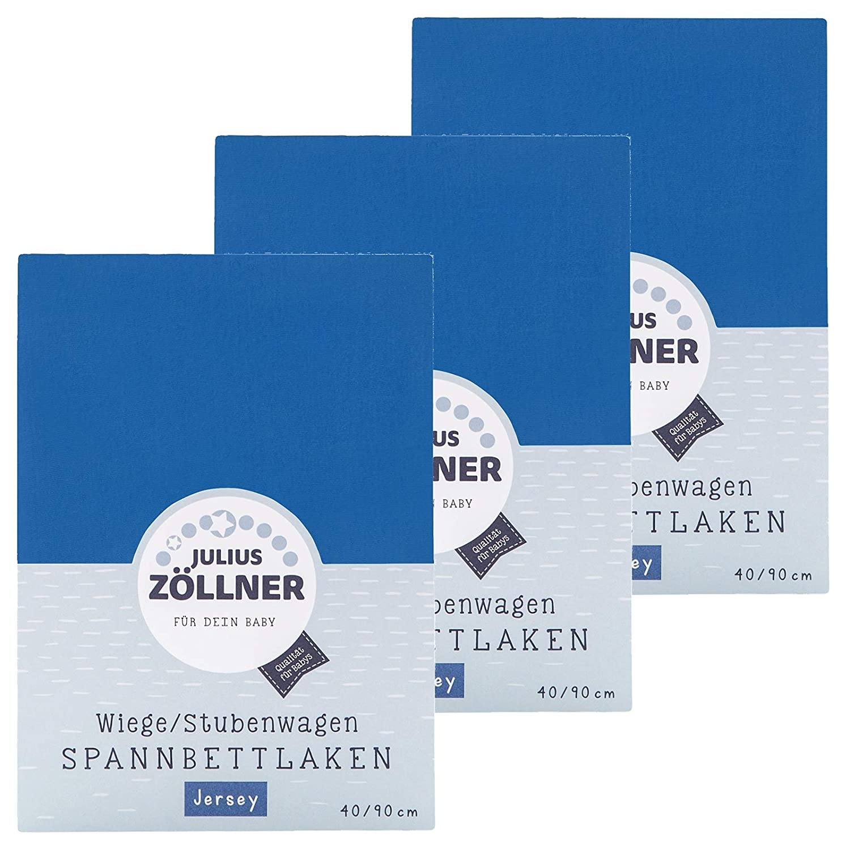 Julius Zöllner Spannbetttuch Jersey 90x40 Banana 3er Pack