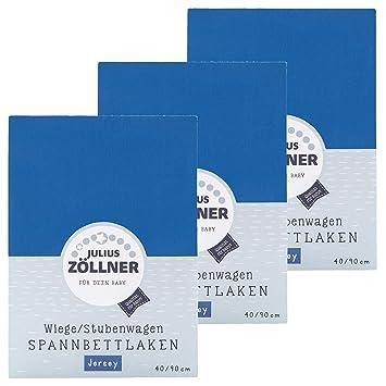 Zöllner Spannbetttuch Jersey 90x40 BLAU