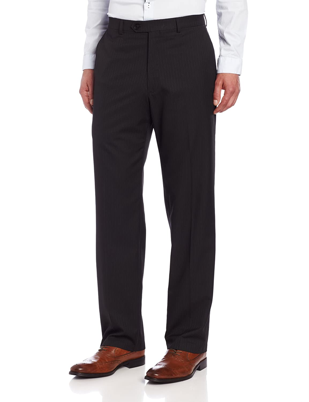 Haggar Men's Big & Tall Striped Plain-Front Suit-Separate Pant Haggar Men's Tailored HY93609