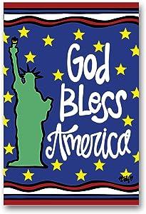 Magnolia Lane Garden Art God Bless America Statue of Liberty Garden Flag 12 inches x 18 inches