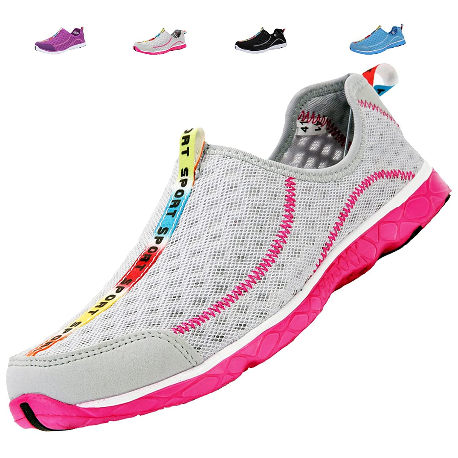 Womens Mens Water Shoes - Perfect For Aqua Water Sports - Mesh Quick Drying - Lightweight Comfortable and Breathable