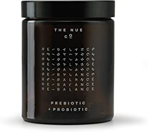 The Nue Co. - Natural Prebiotic + Probiotic   Improves Gut Health, Vegan, Time-Delayed Capsules (60 Capsules)