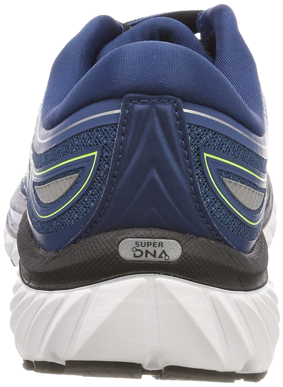 Brooks Men's Glycerin Running 15 Blue/Lime/Silver 7.5 D US B073NP5F8J Running Glycerin 049630