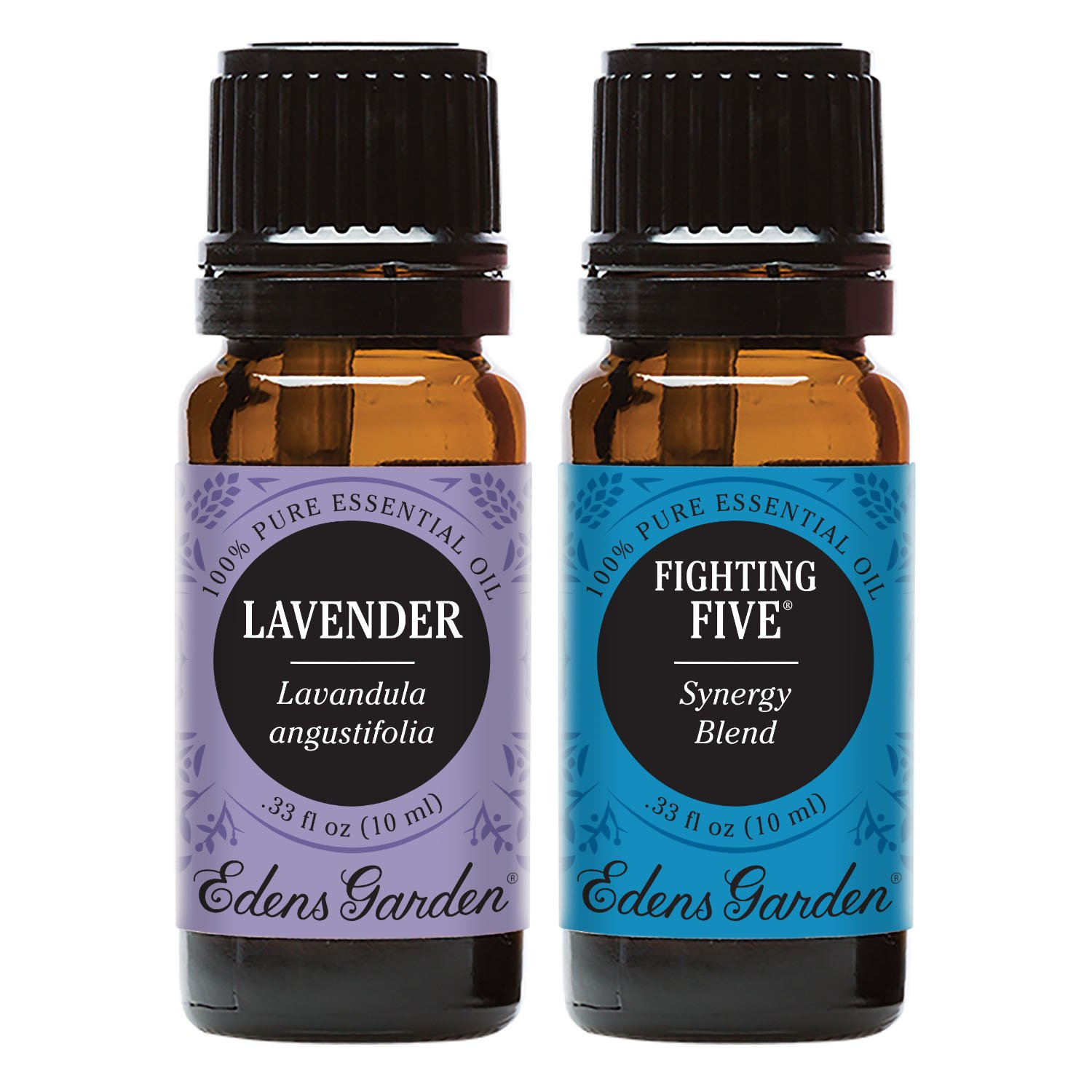 Edens Garden Fighting Five + Lavender Essential Oil Set, Best 100% Pure Aromatherapy Starter Kit (For Diffuser & Therapeutic Use), 10 ml