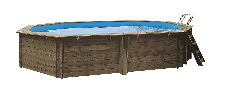 Gre CANELLE - Piscina Elevada Ovalada de Madera, 551 x 351 x 119 cm (Largo x Ancho x Alto): Amazon.es: Juguetes y juegos