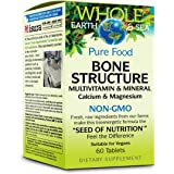 Whole Earth & Sea - Bone Structure Multivitamin & Mineral, Raw, Whole Food Nutrition, 60 Tablets