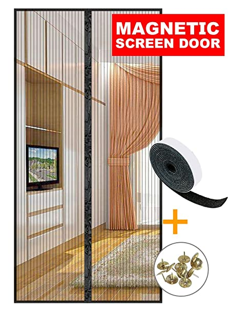 Upgraded magnetic screen door 38 x 82 inches max magnet screen upgraded magnetic screen door 38 x 82 inches max magnet screen door mesh curtain for planetlyrics Choice Image