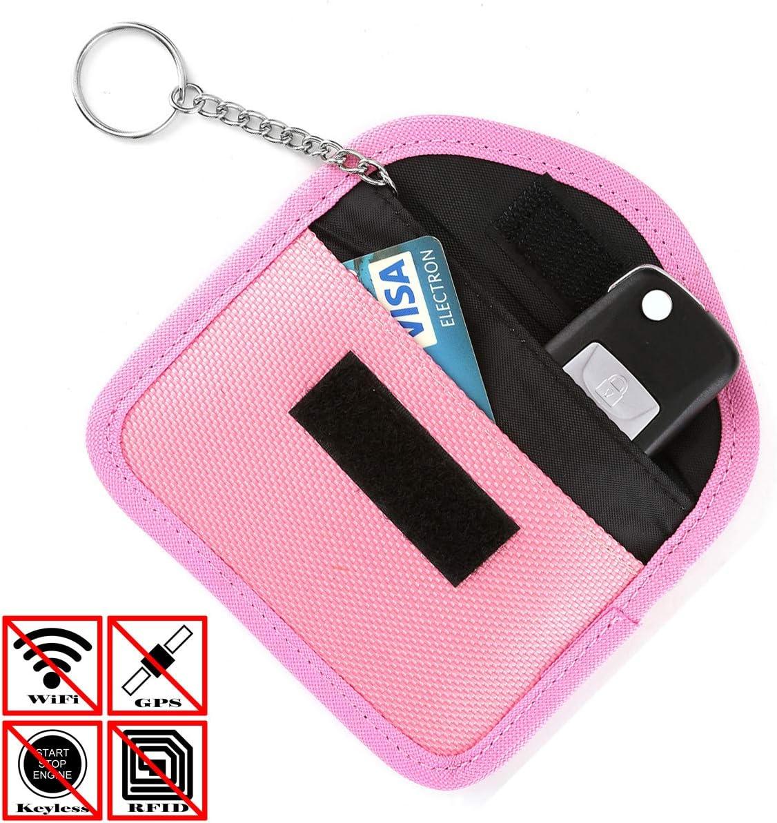ACBunji Car key Signal blocker Case Keyless FOB Signals Shielding Pouch Privacy Protection Faraday Bag