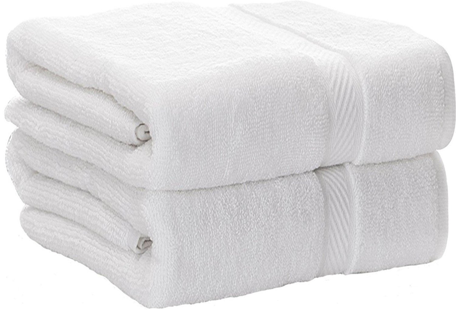 Luxury Hotel & Spa Bath Towels, 100% Cotton, Extra Large, 30x56 Inches, Set of 2, White,