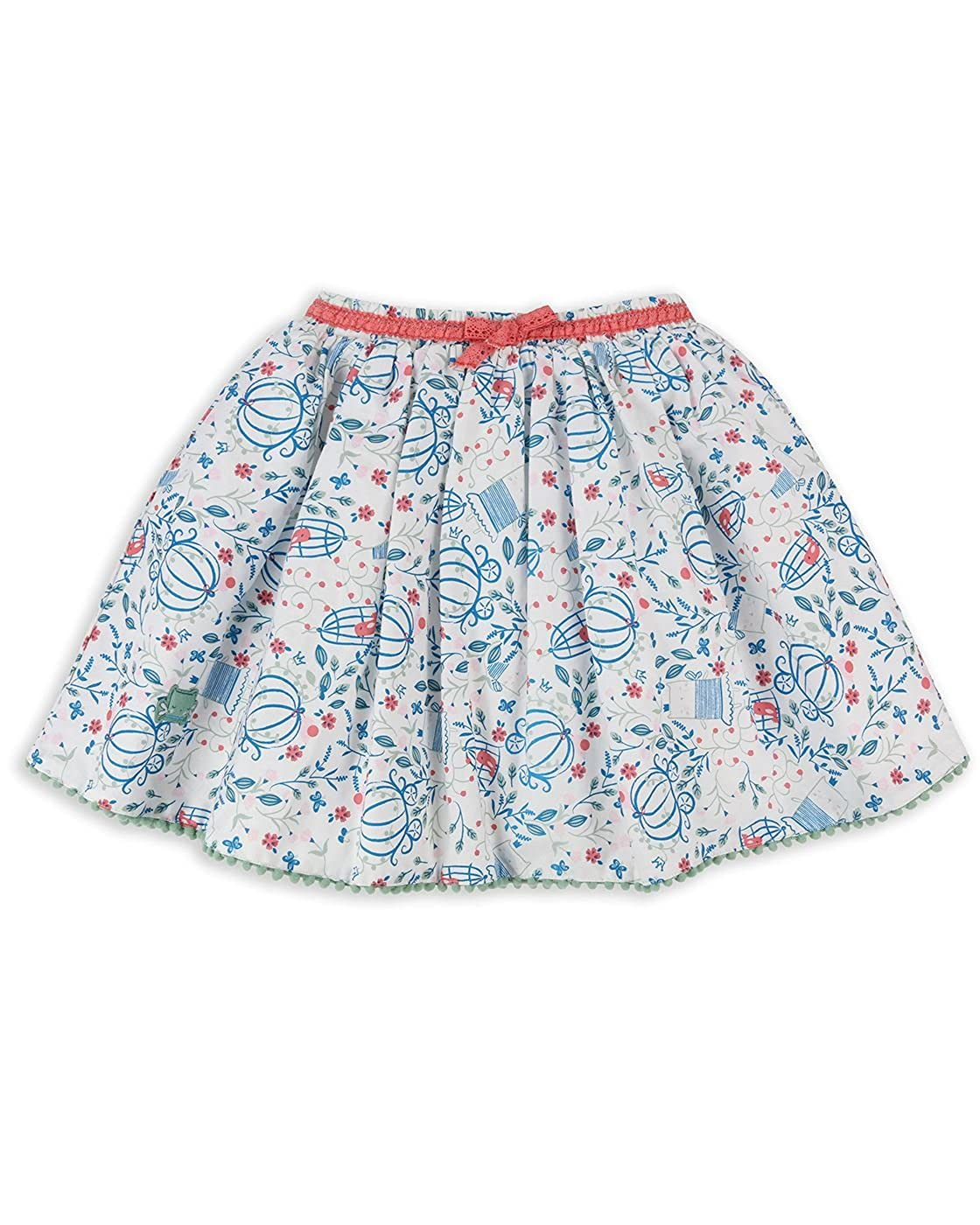 The Essential One - Baby Kids Girls Fairy Cat Floral Skirt - Cream - EOT502