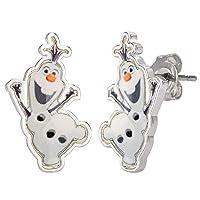 Frozen Olaf The Snowman Fine Silver Plated Stud Earrings