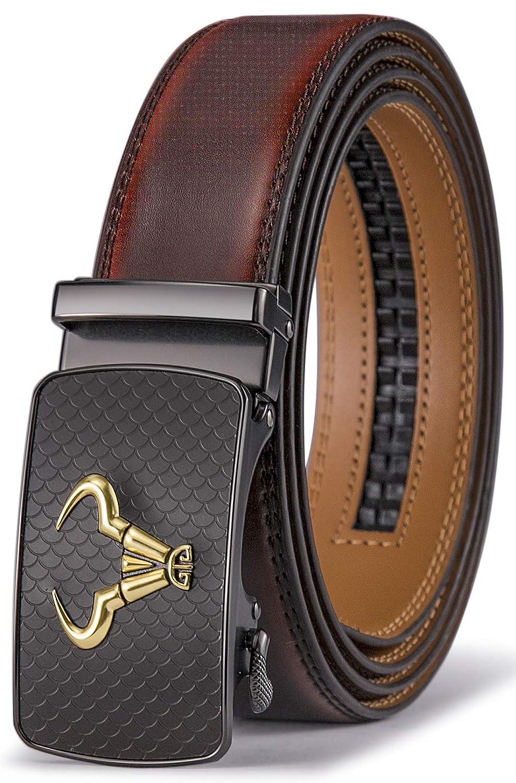 Men's Belt, Bulliant Branded Ratchet Belt Of Genuine Leather For Men Dress, Size Customized