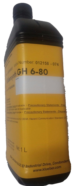 KLUBERSYNTH GH6-80 병 합성 고온 기어 오일 I 리터