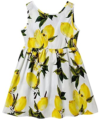 8727ae1f71ff Dhasiue Girls Dress Kid Floral Sleeveless Cotton Sundress Summer Girl  Clothes Size 2-7 Years