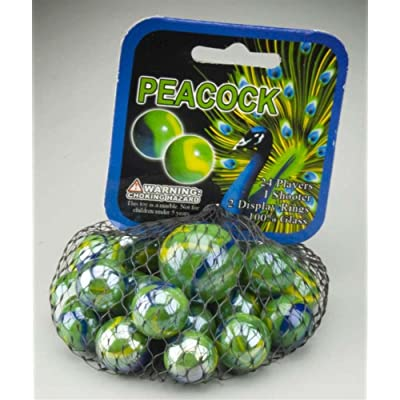 Peacock Marbles: Toys & Games