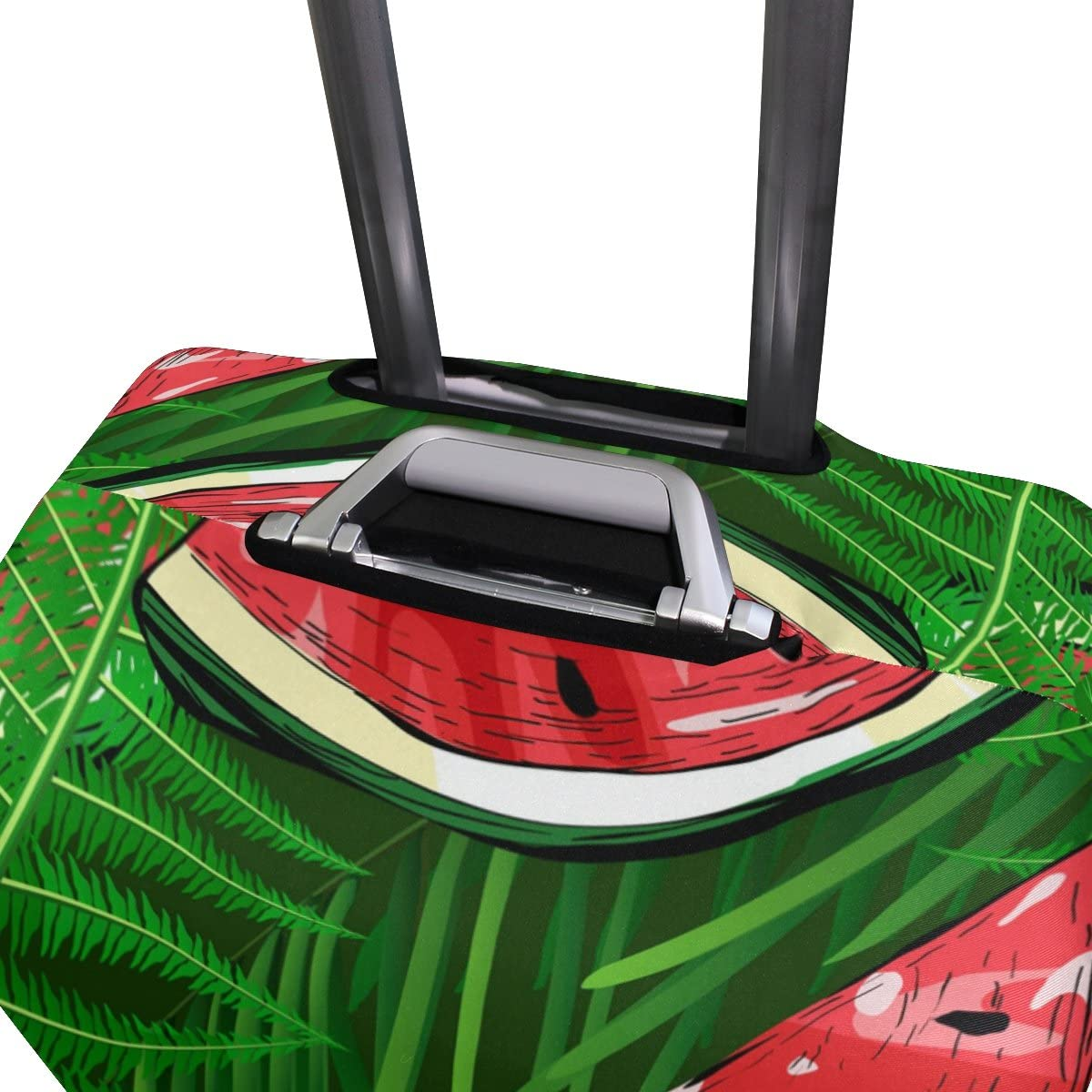 OREZI 3D Watermelons And Tropical Plants Luggage Protector Suitcase Cover 18-32 Inch