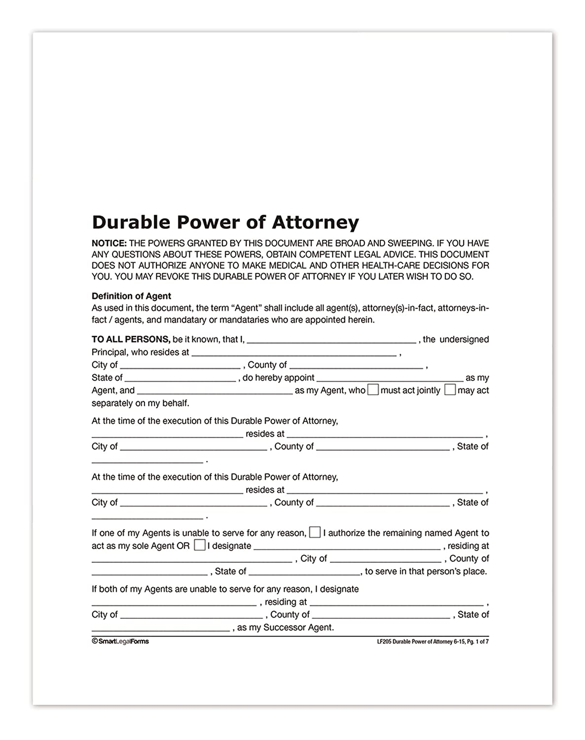 amazon com adams durable power of attorney forms and instructions