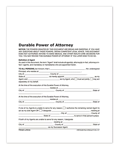Amazon Adams Durable Power Of Attorney Forms And Instructions