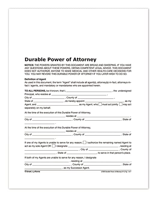 AmazonCom  Adams Durable Power Of Attorney Forms And Instructions