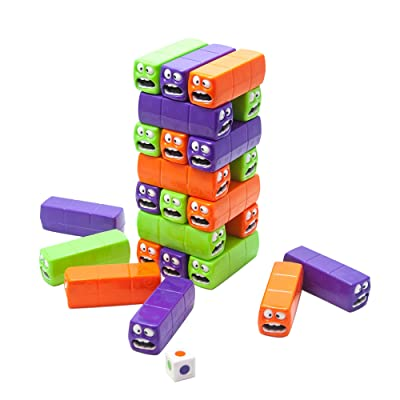 Fat Brain Toys Wobbly Worms Push 'n Pull Worm Tower: Toys & Games