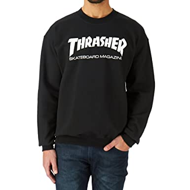 0bd207147025 Amazon.com  Thrasher Crewneck Skateboard Sweatshirt Gray  Clothing