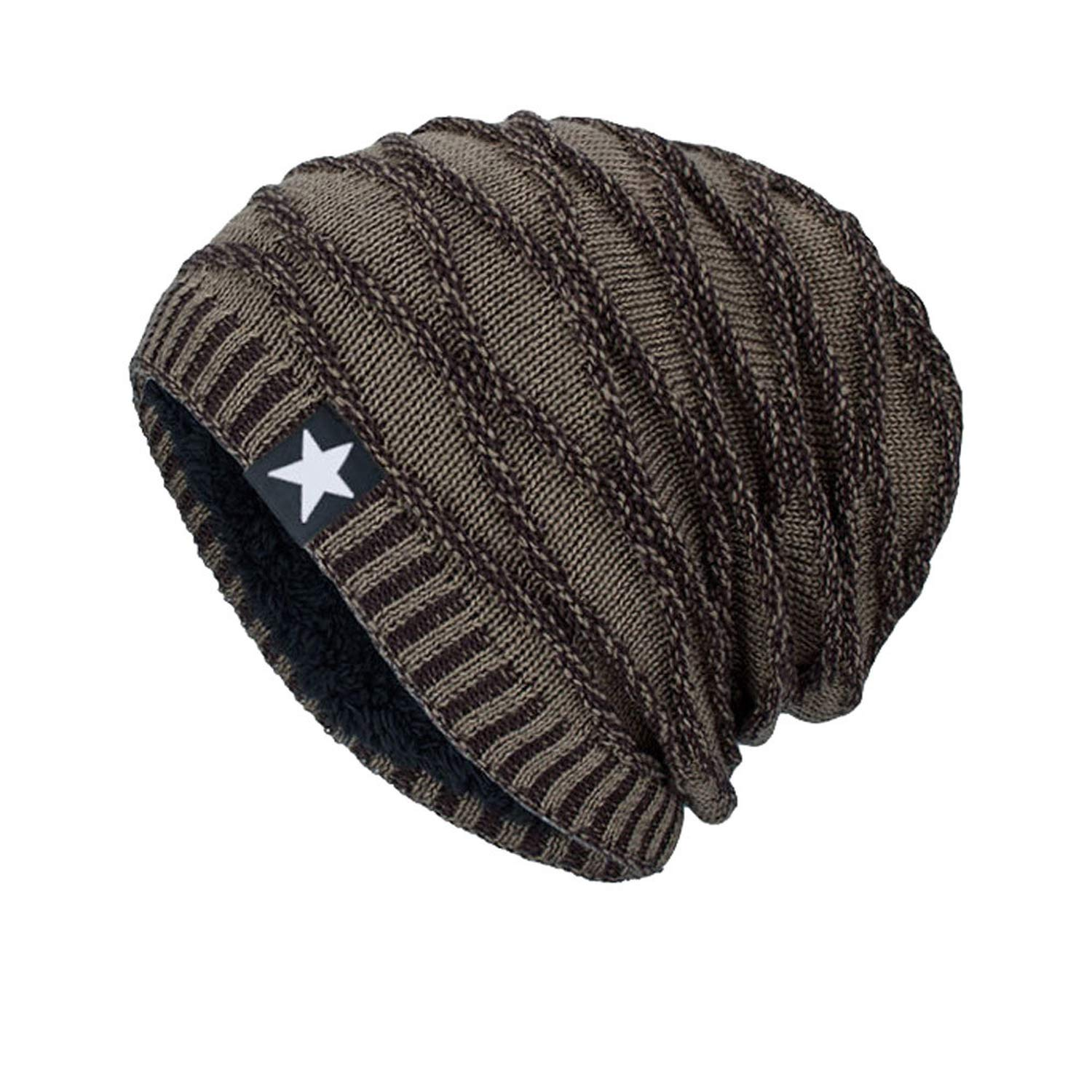 Unisex Knitted Warm Cap for Men Beanie Cap Warm Winter Outdoor Casual Hat