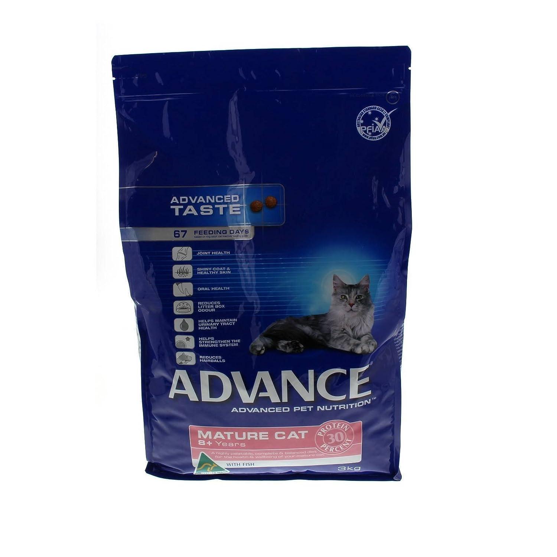 Cat Food Advance Cat Mature Fish 3kg Premium Dry Food Nutrition Health