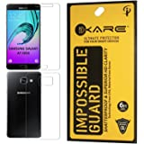 iKare Front/Back Fiber Reusable, Ultra Clear, Real Shock Proof, Unbreakable Tempered Glass Screen Protector For Samsung Galaxy A7 2016 Edition