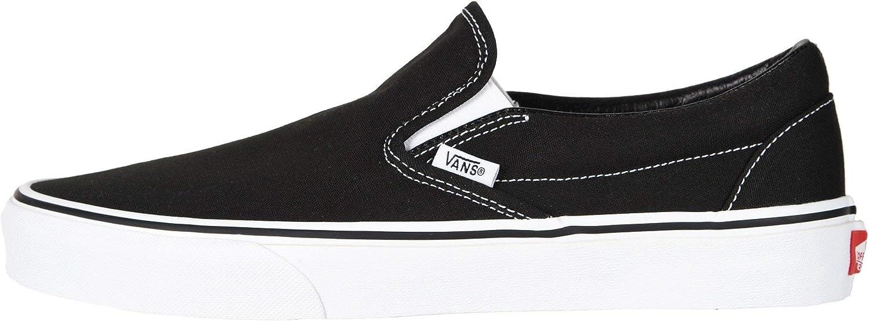 Vans U Classic Slip-on, Baskets mode mixte adulte Classique Noir et Blanc