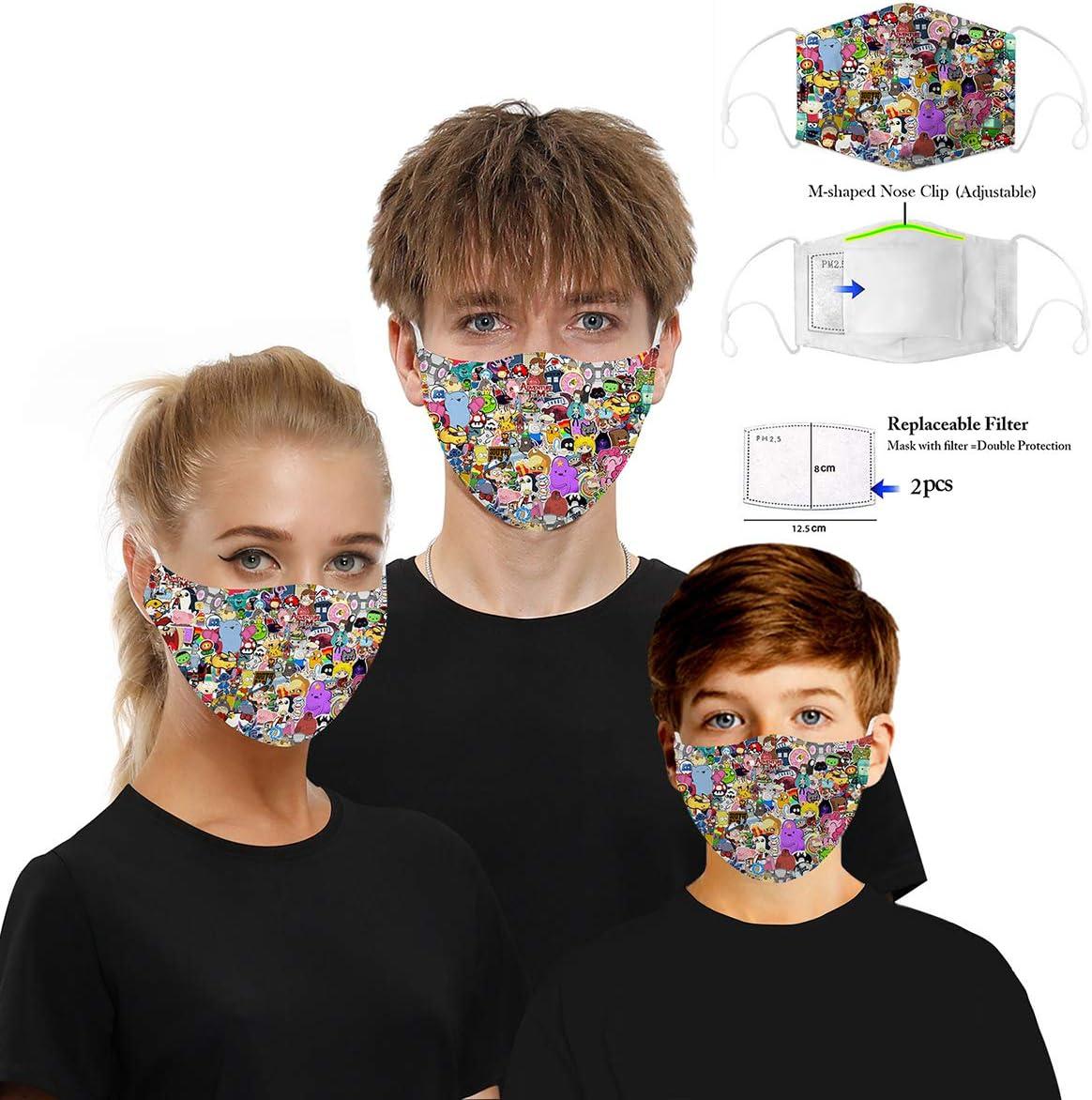 Mascarilla para La Boca Al Aire Libre Máscaras De Media Cara para Hombres Y Mujeres con Chip De Filtro Transpirable Y Lavable Reutilizable,C