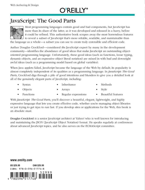 amazonfr javascript the good parts d crockford livres